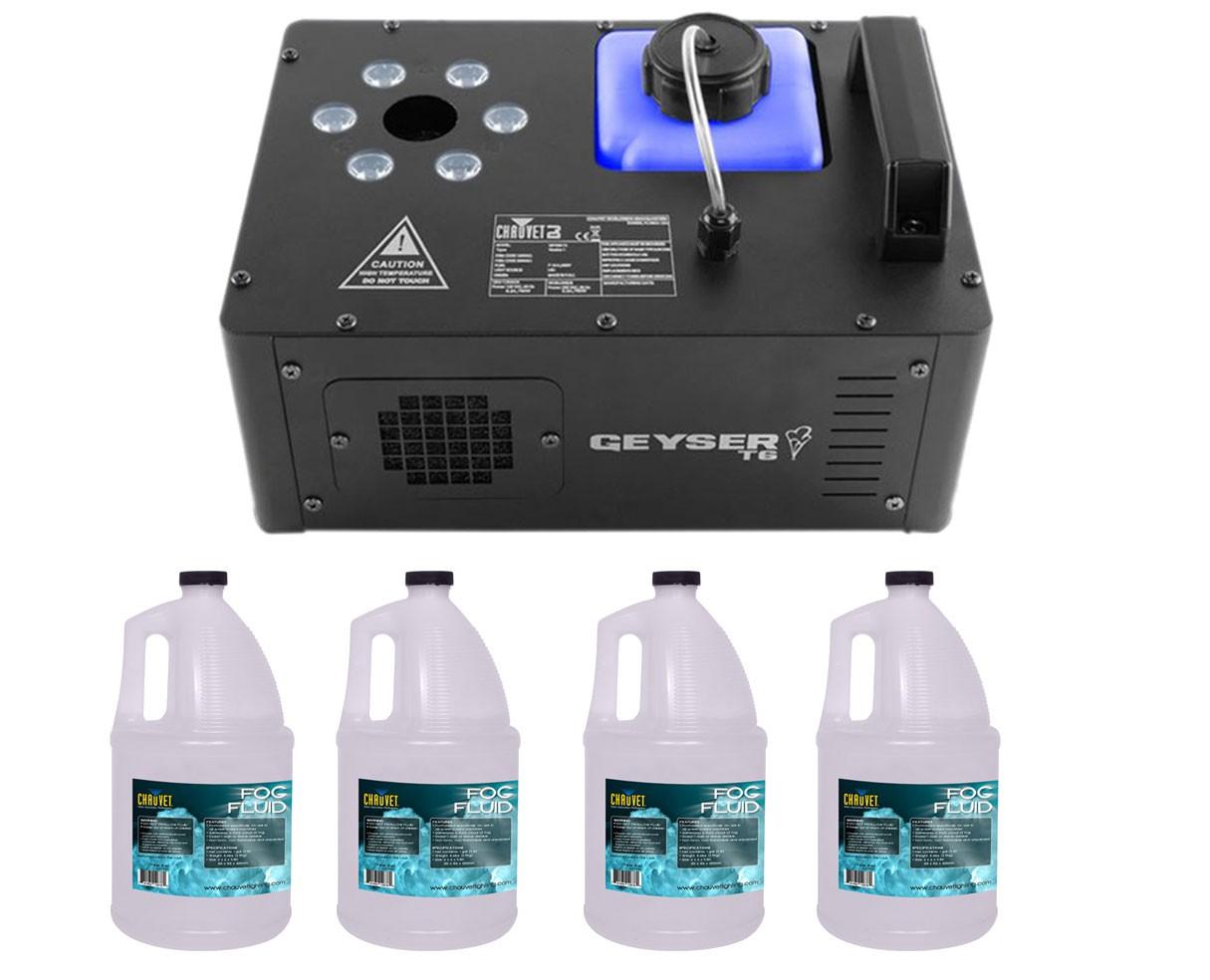CHAUVET DJ Geyser T6 + 4x Fog Fluid Gallon
