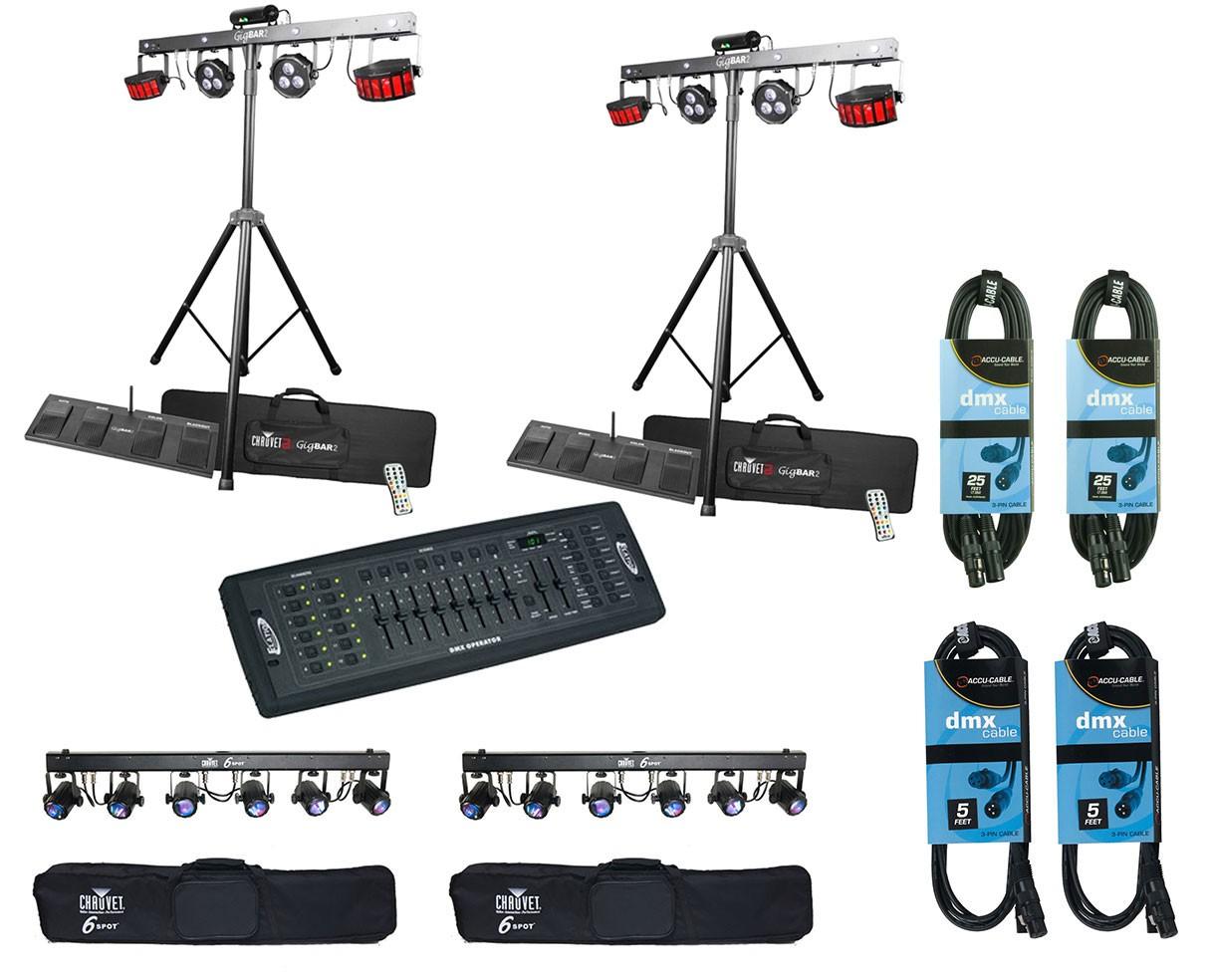 2x Chauvet GigBAR 2 + 2x 6Spot + Controller + Cables