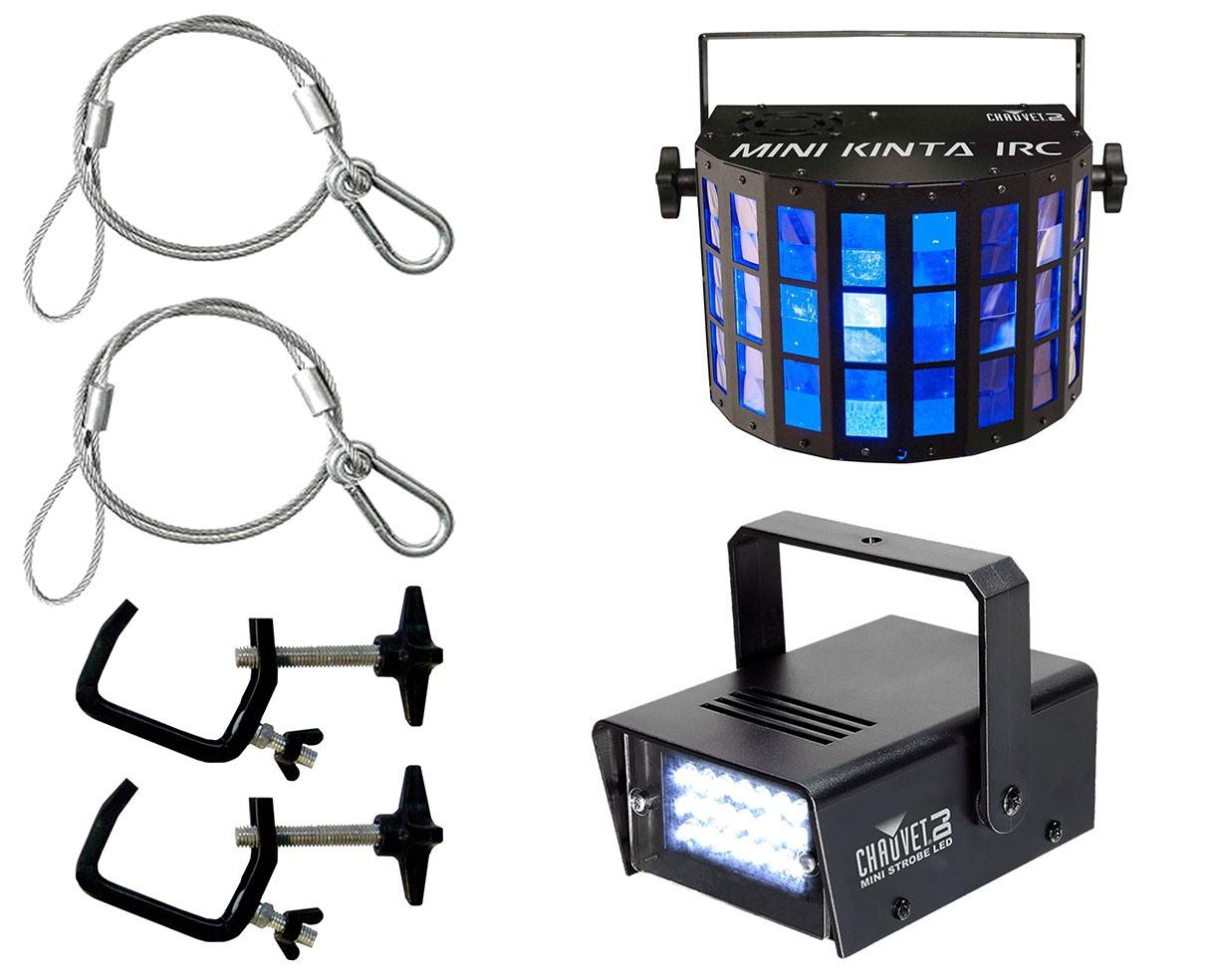 CHAUVET DJ Mini Kinta IRC + Strobe Light + Clamps + Safety