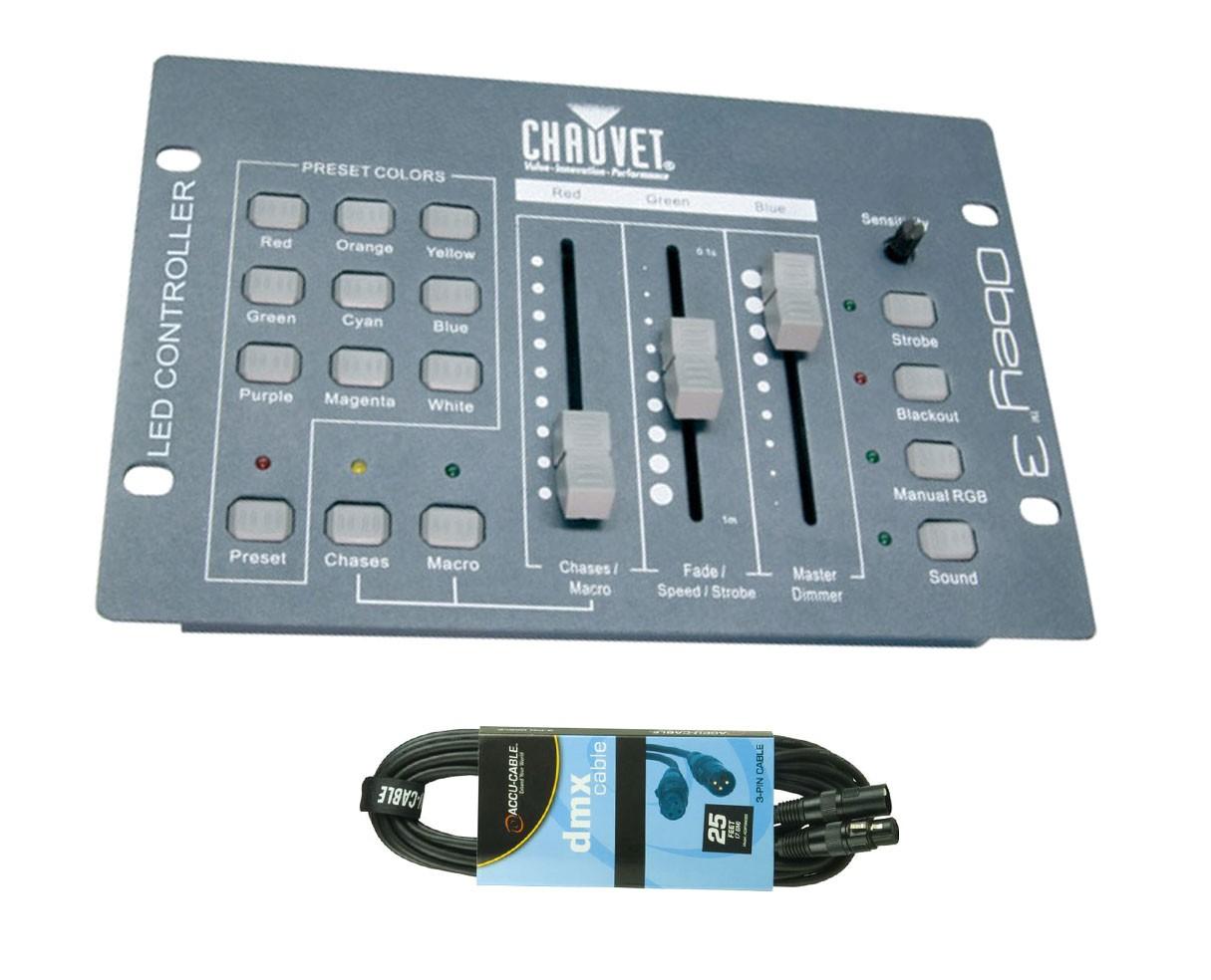 CHAUVET DJ Obey 3 + DMX Cable