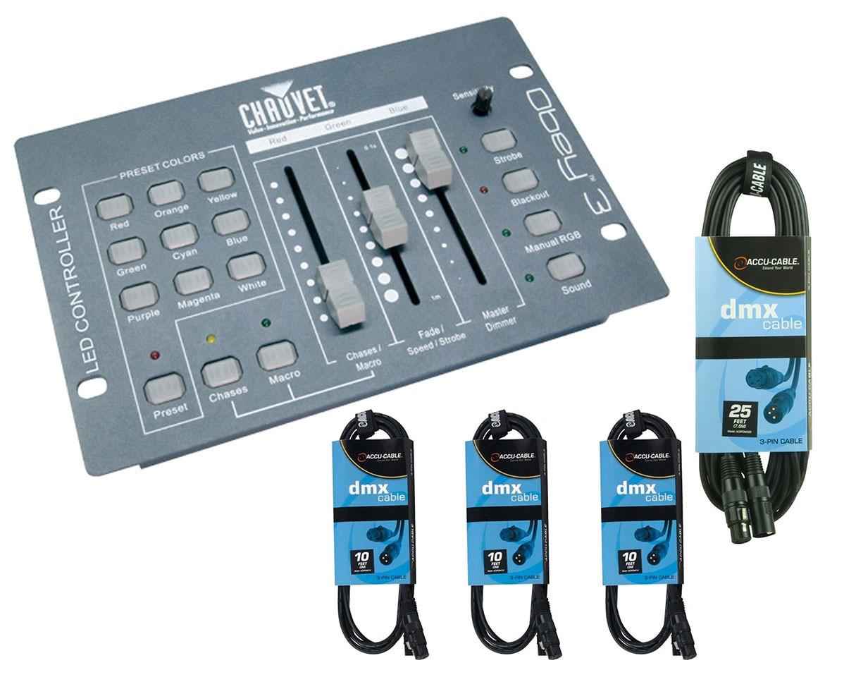 Chauvet Obey 3 + DMX Cables