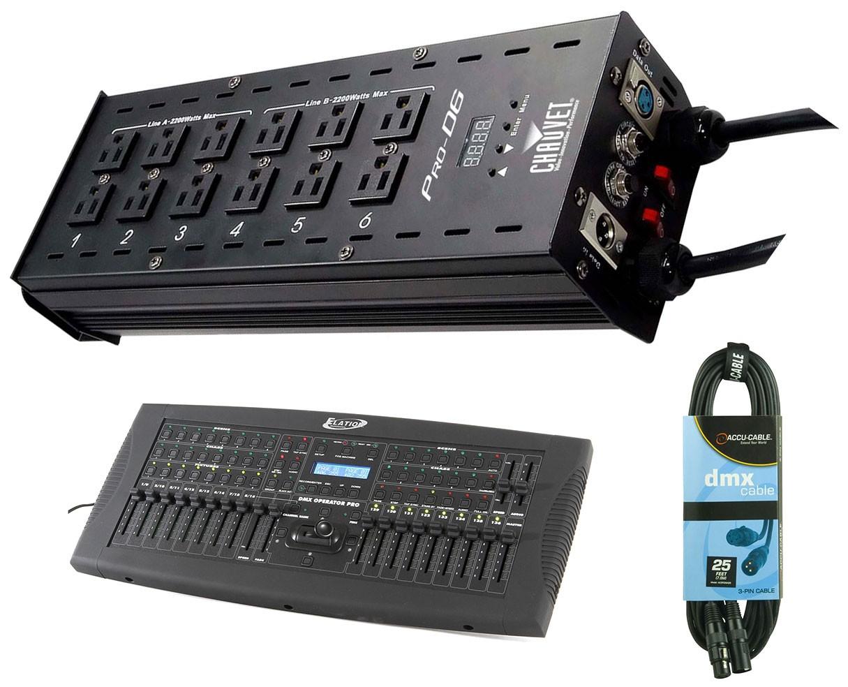 Chauvet Pro-D6 + DMX Operator Pro + Cable