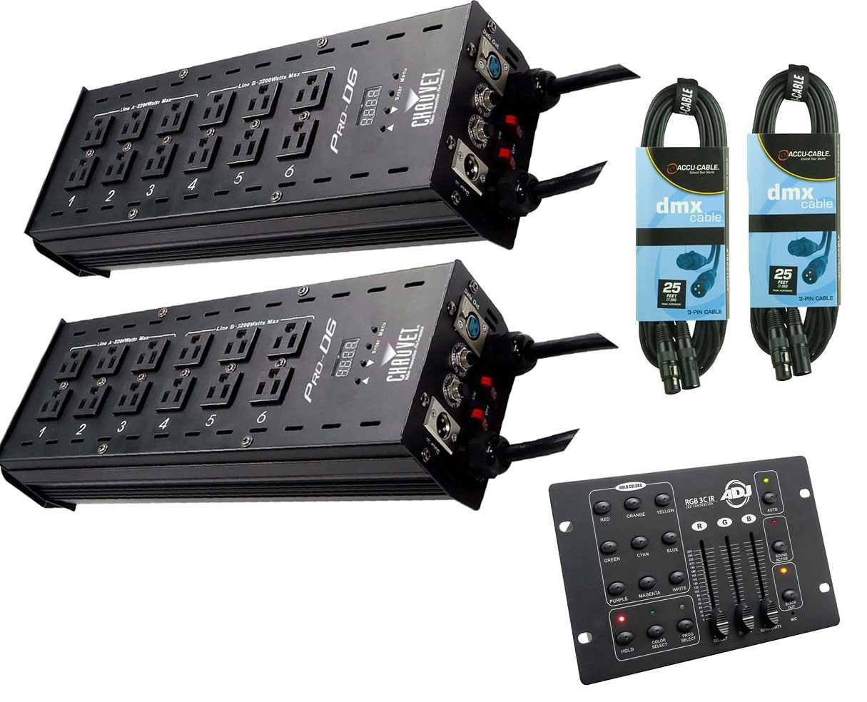 2x CHAUVET DJ Pro-D6 + RGB3C IR + Cables