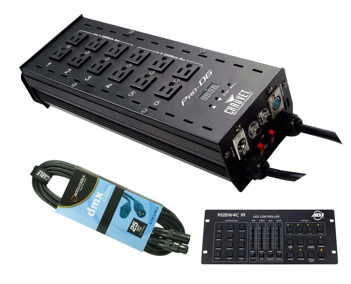 CHAUVET DJ Pro-D6 + RGBW4C IR + Cable