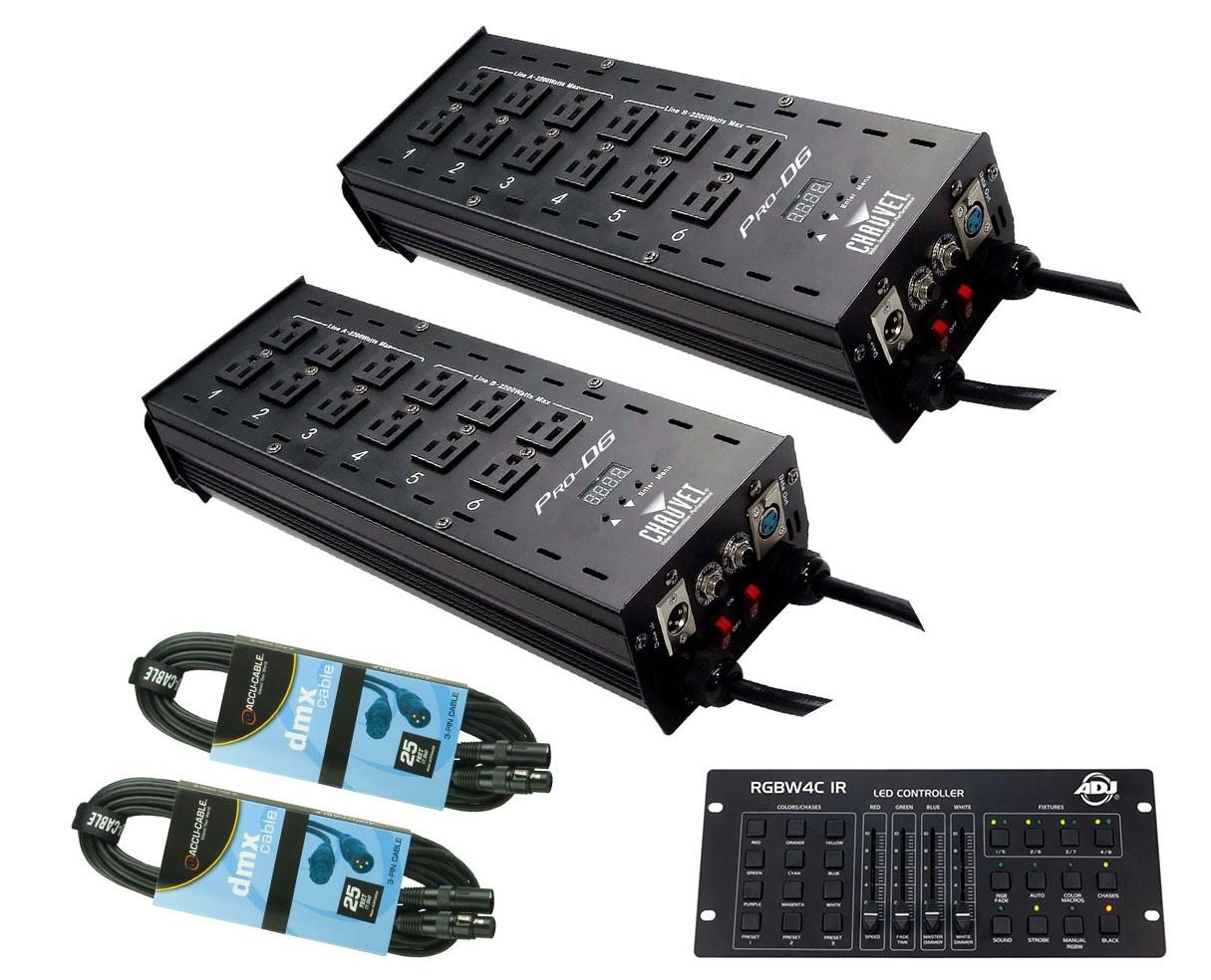 2x Chauvet Pro-D6 + RGBW4C IR + Cables