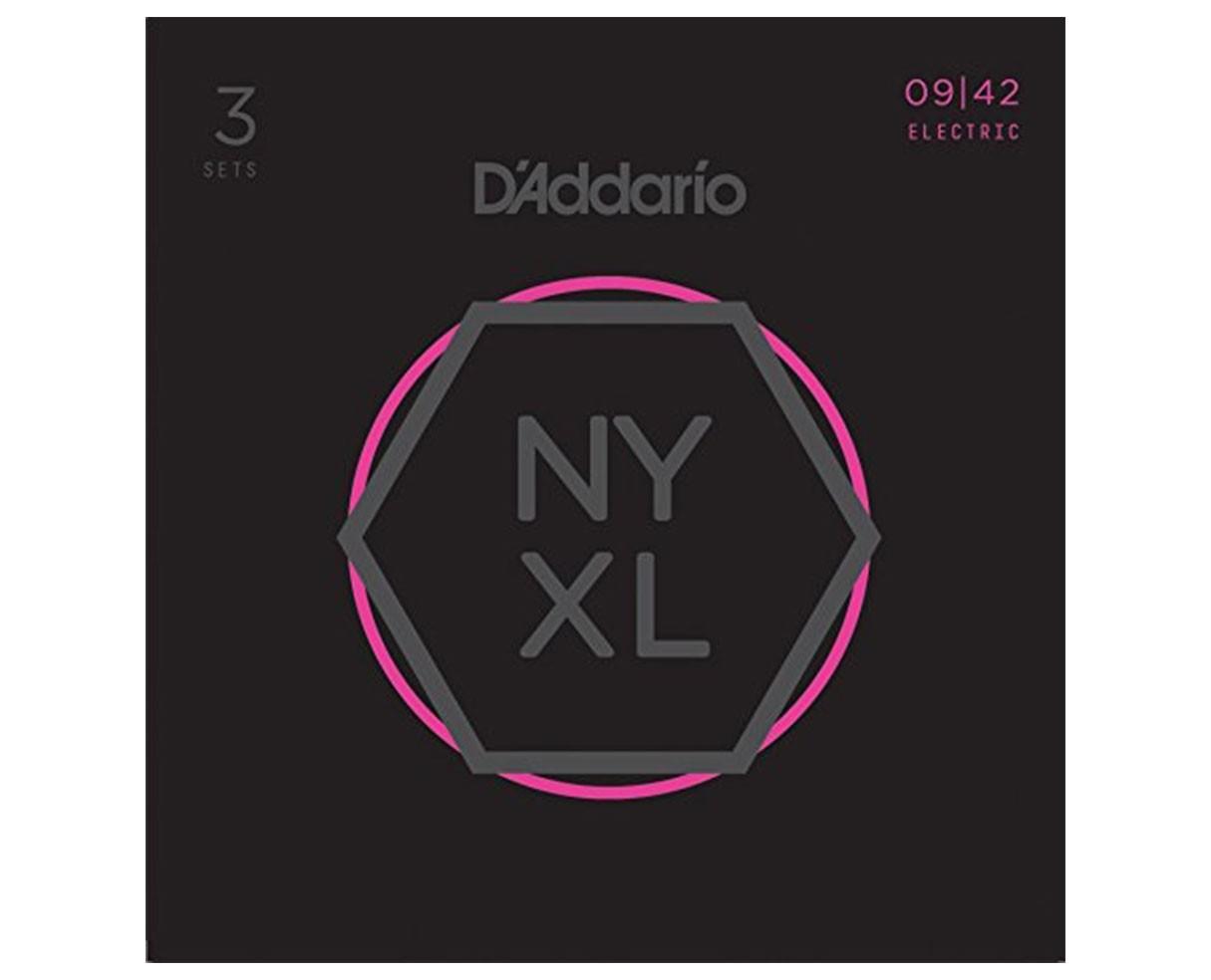 D'Addario NYXL0942-3P Nickel Wound, Super Light, 09-42 3-Pack