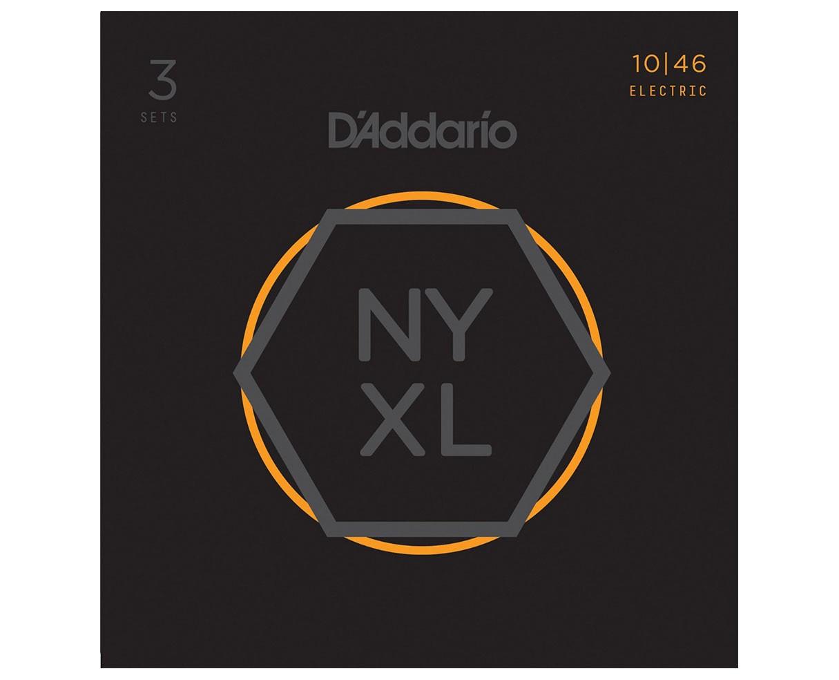 D'Addario NYXL1046-3P Nickel Wound, Regular Light, 10-46 3-pack