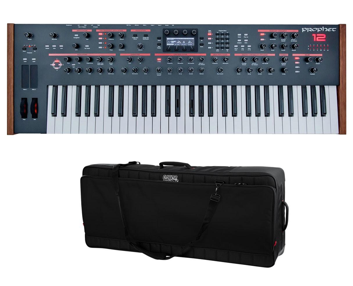 Dave Smith Prophet 12 Keyboard + Gator G-PG-61 ProGo Keyboard Bag