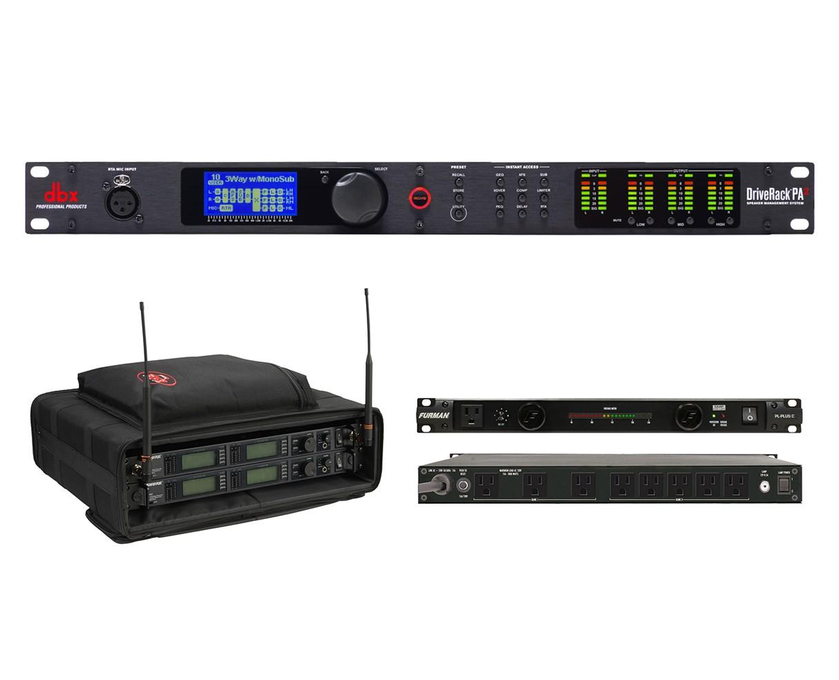 dbx DriveRack PA2 + SKB 1SKB-SC192U + Furman PL-Plus C
