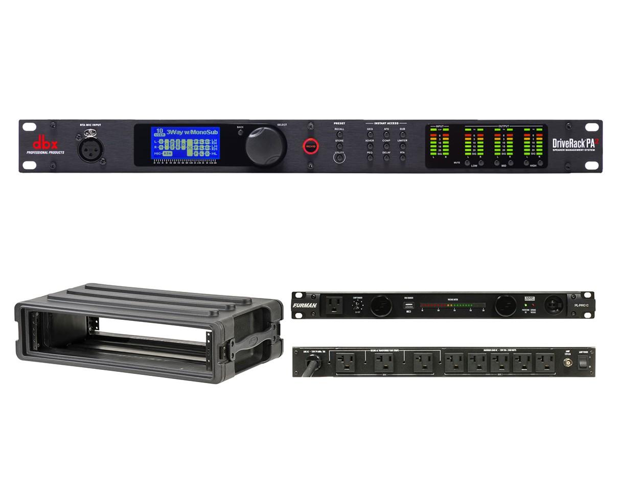 dbx DriveRack PA2 + SKB 1SKB-R2S + Furman PL-Pro C