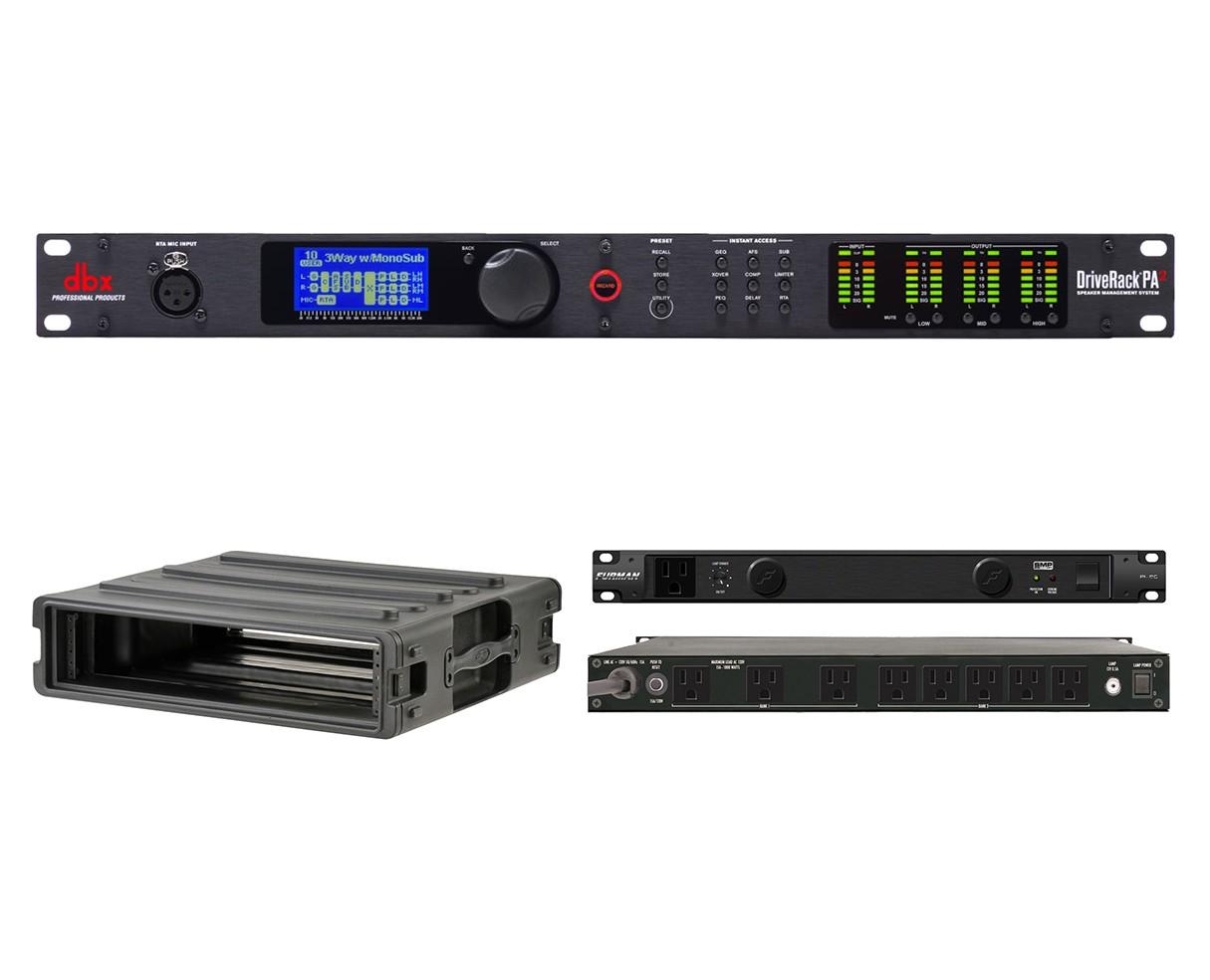 dbx DriveRack PA2 + SKB 1SKB-R2U + Furman PL-8 C