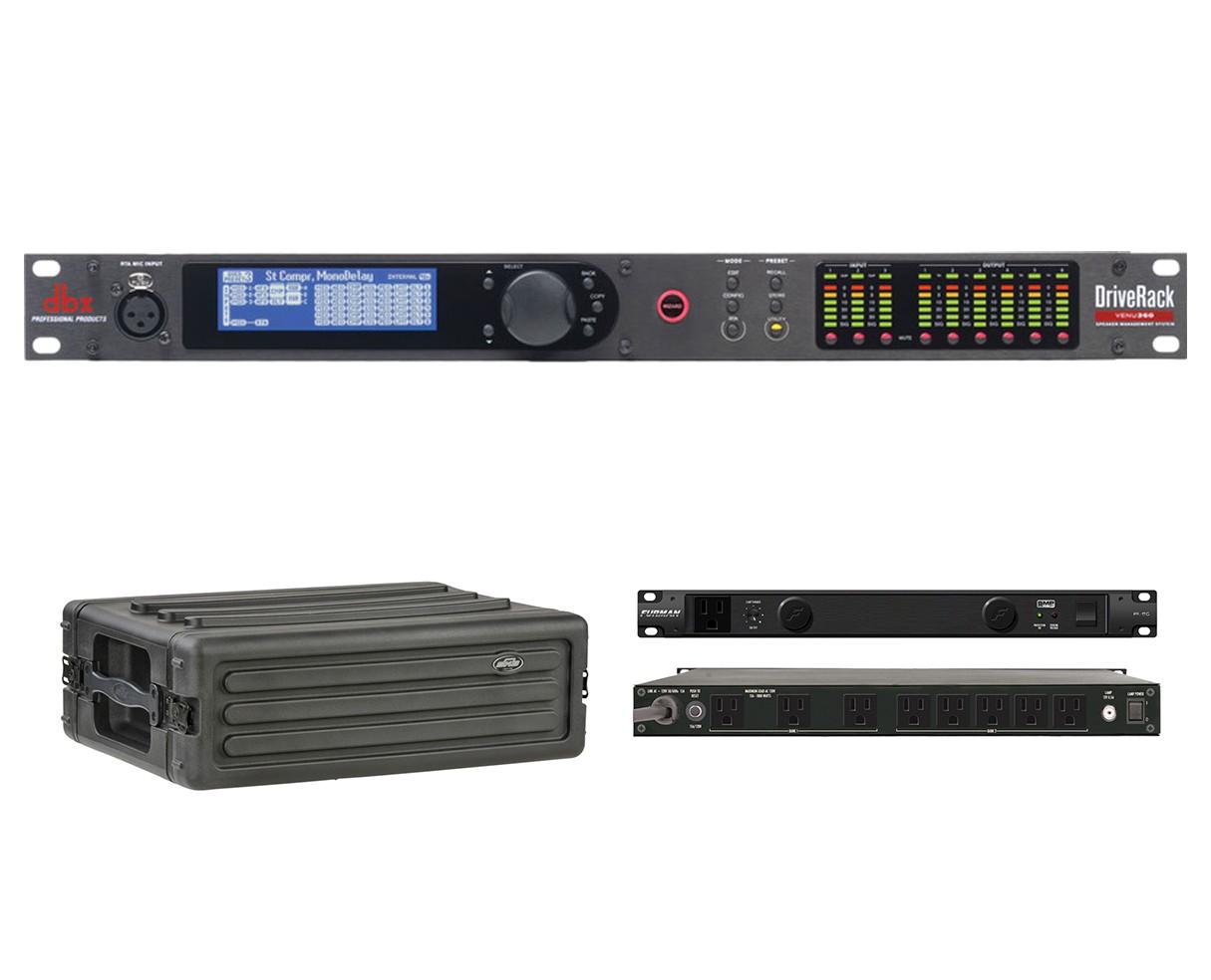 dbx DriveRack VENU360 + SKB 1SKB-R3S + Furman PL-8 C