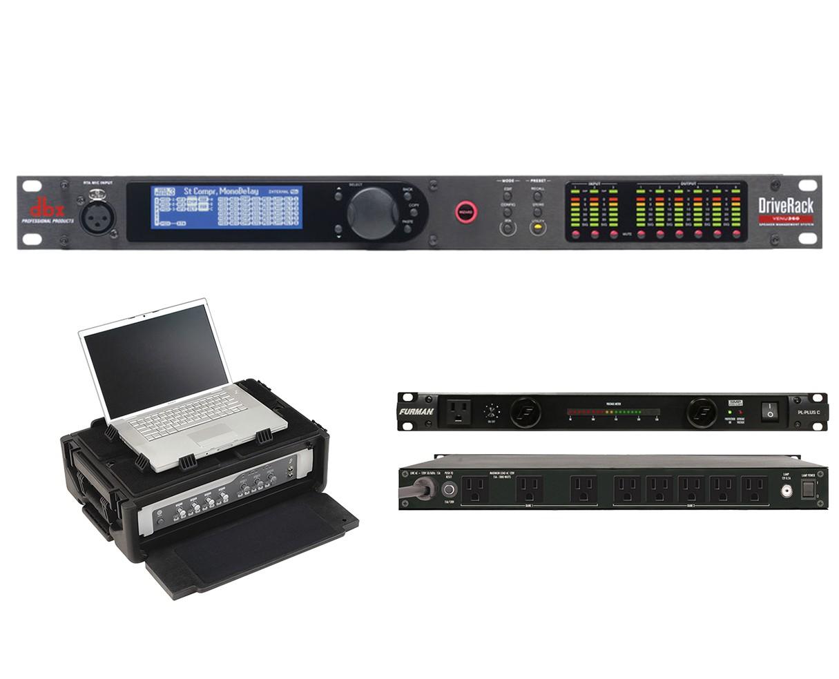 dbx DriveRack VENU360 + SKB 1SKB19-RSF2U + Furman PL-Plus C