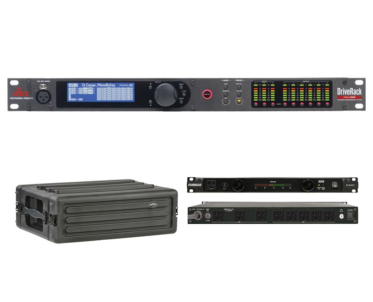 dbx DriveRack VENU360 + SKB 1SKB-R3S + Furman PL-Plus C