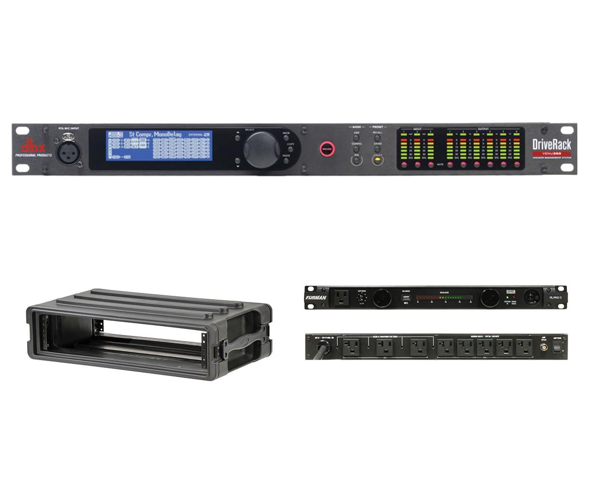 dbx DriveRack VENU360 + SKB 1SKB-R2S + Furman PL-Pro C