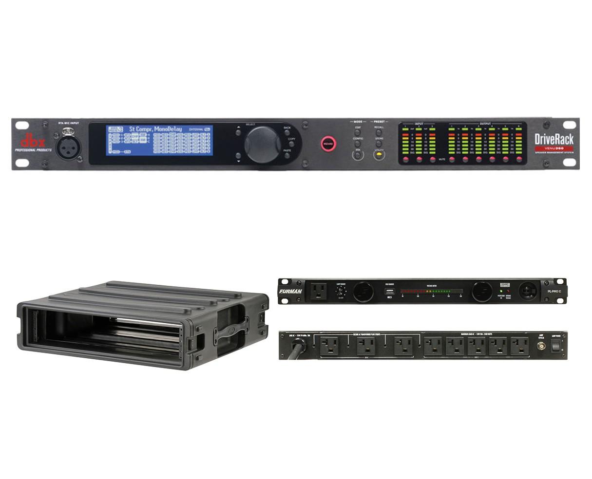 dbx DriveRack VENU360 + SKB 1SKB-R2U + Furman PL-Pro C