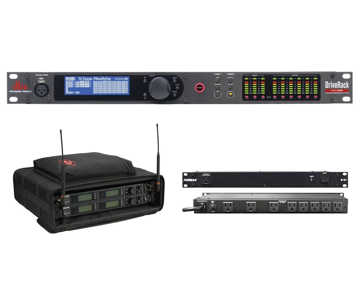 dbx DriveRack VENU360 + SKB 1SKB-SC192U + Furman M-8x2