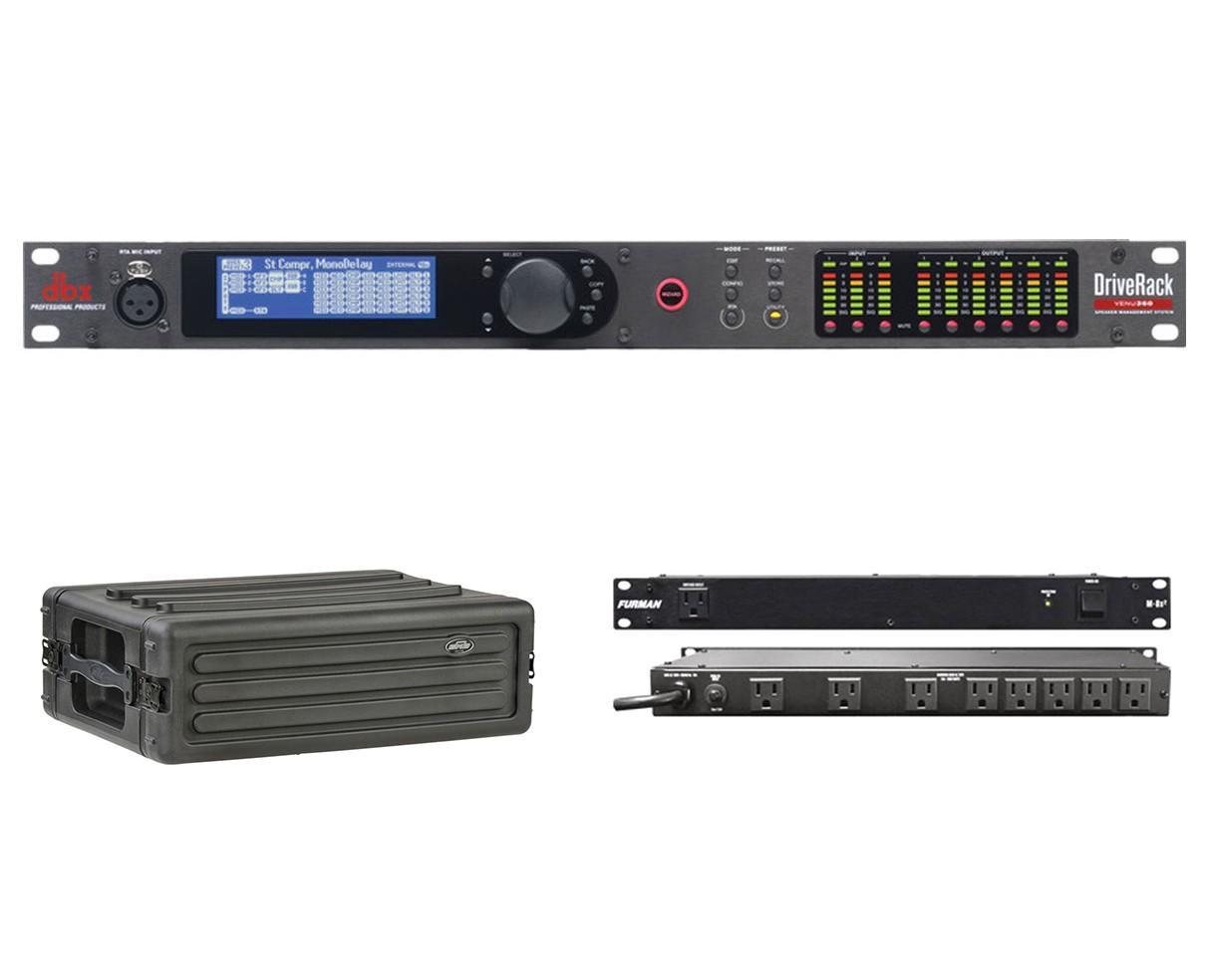 dbx DriveRack VENU360 + SKB 1SKB-R3S + Furman M-8x2