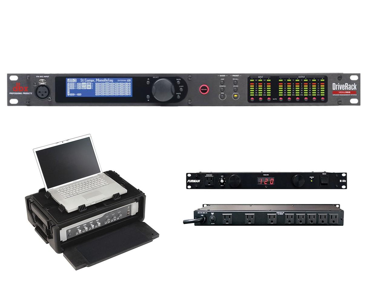 dbx DriveRack VENU360 + SKB 1SKB19-RSF2U + Furman M-8Dx