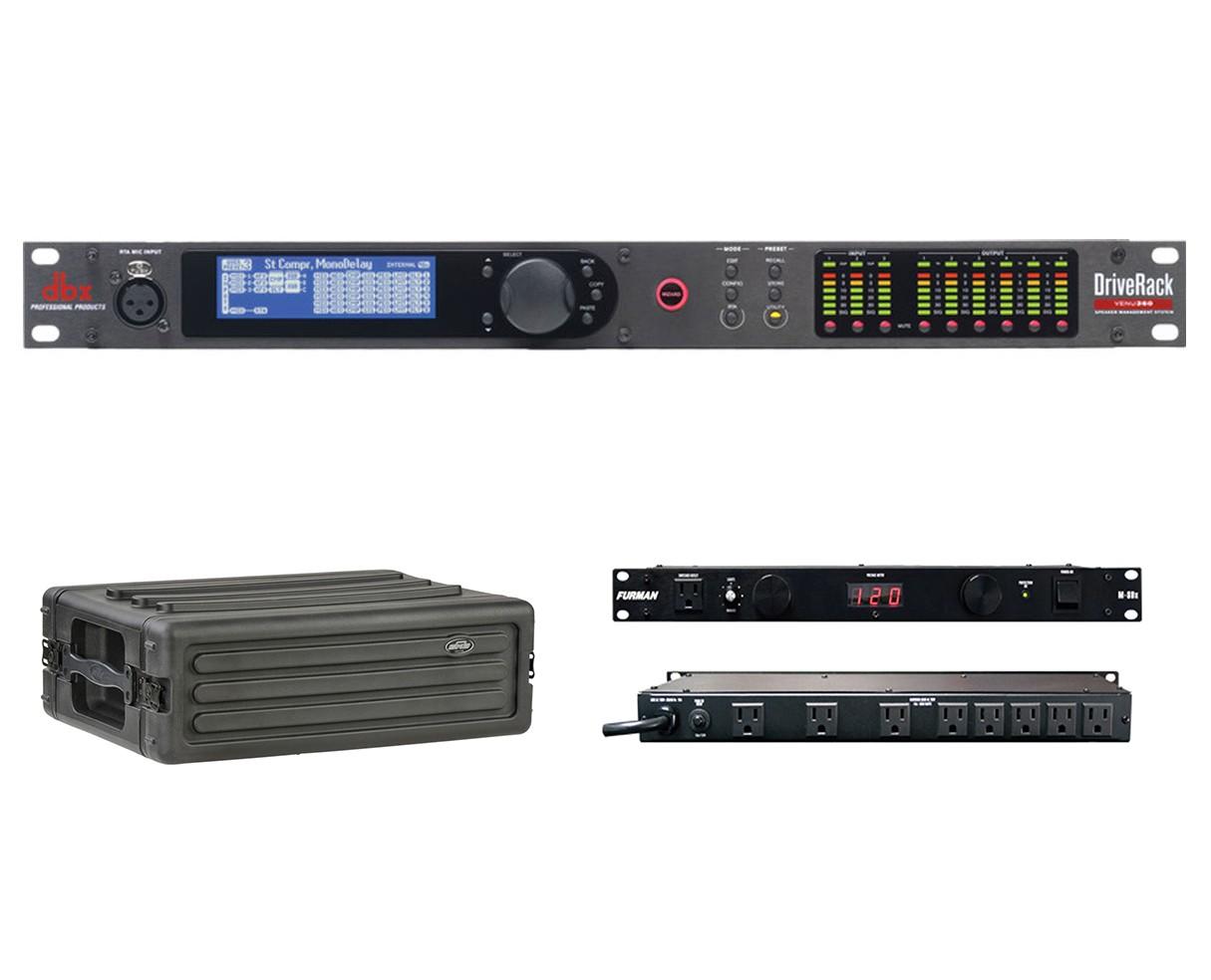 dbx DriveRack VENU360 + SKB 1SKB-R3S + Furman M-8Dx