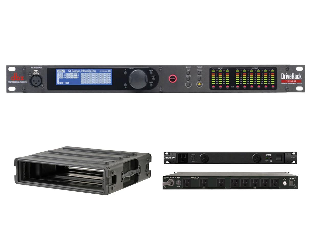 dbx DriveRack VENU360 + SKB 1SKB-R2U + Furman PL-8 C