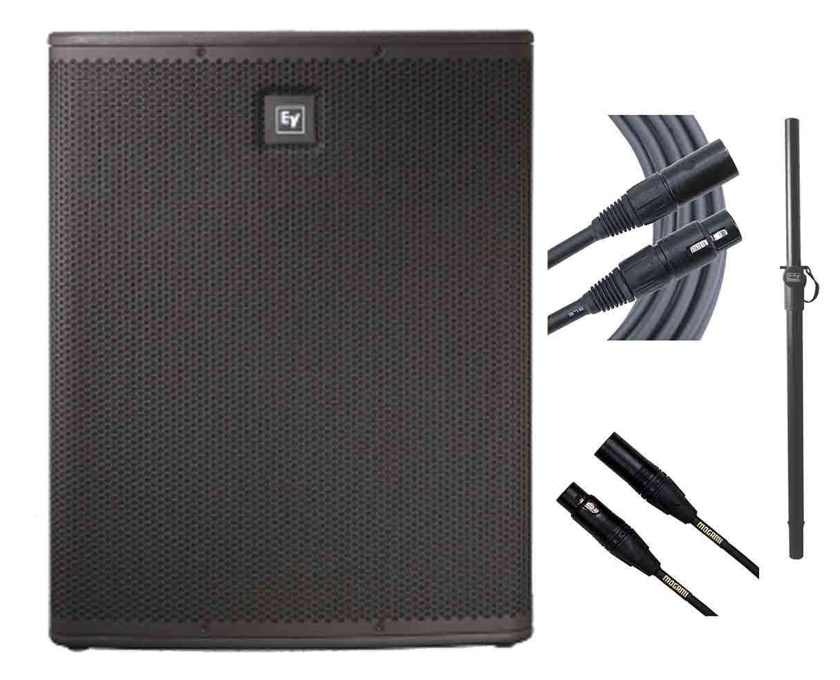 Electro-Voice ELX118P + Mogami Cables + Pole