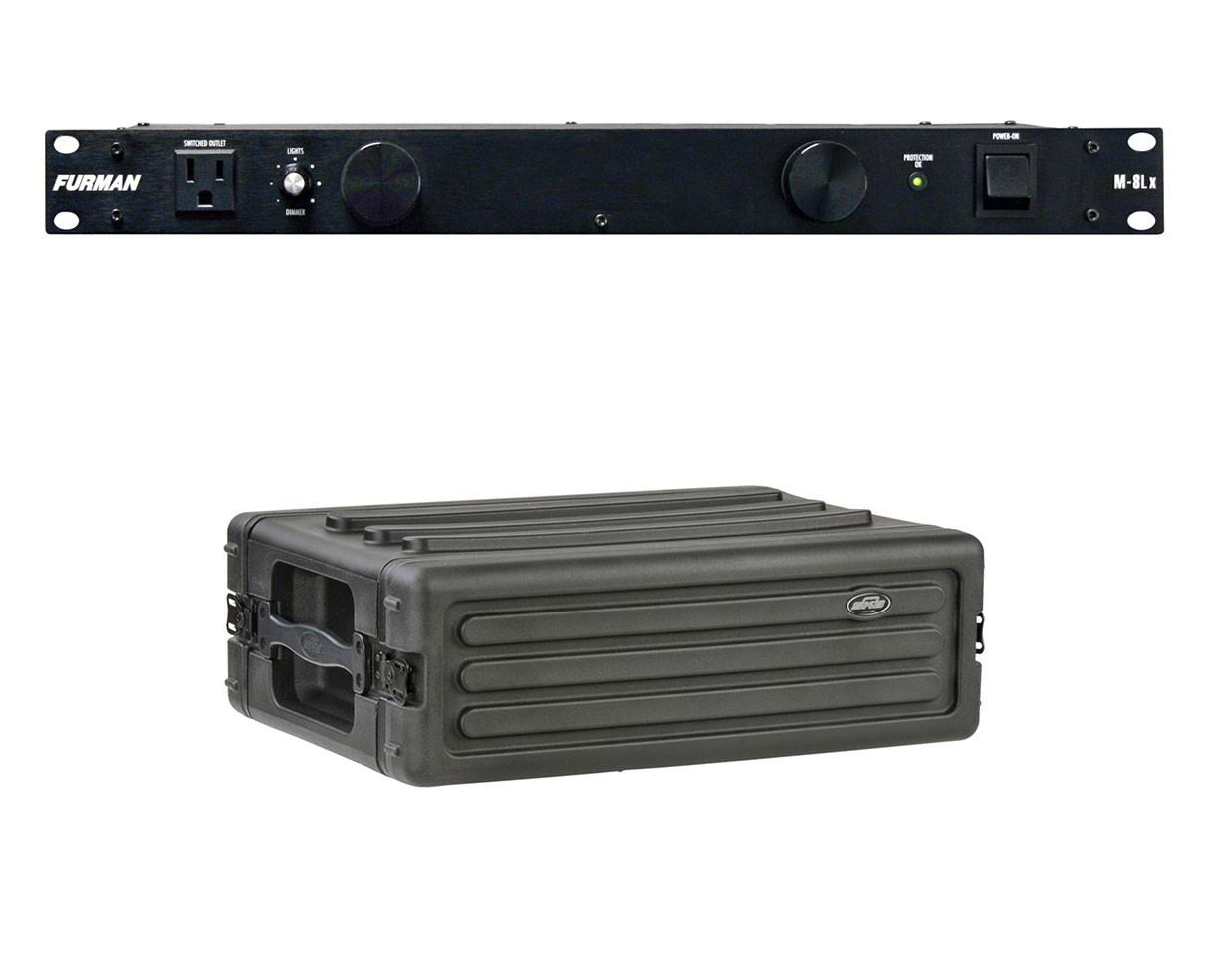 Furman M-8Lx + SKB 1SKB-R3S
