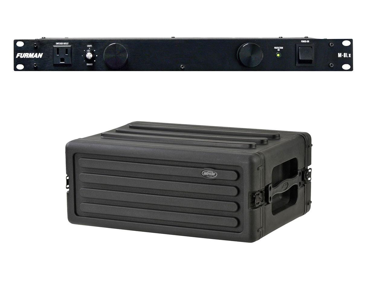 Furman M-8Lx + SKB 1SKB-R4S