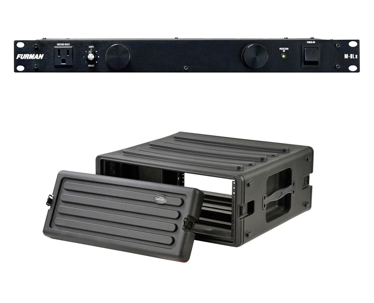 Furman M-8Lx + SKB 1SKB-R4U