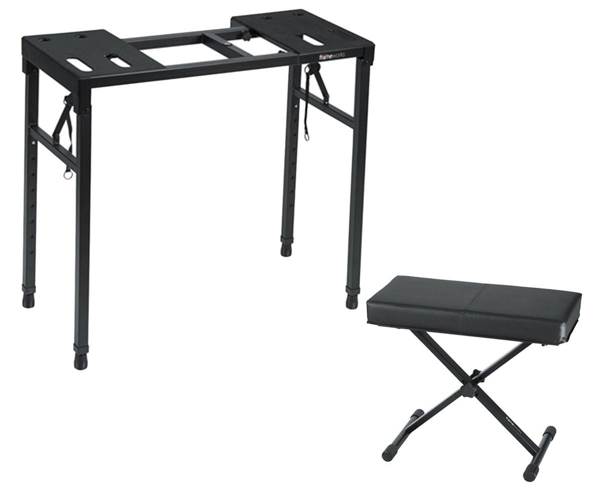 Gator GFW-UTILITY-TBL Heavy-duty Keyboard Table + Bench