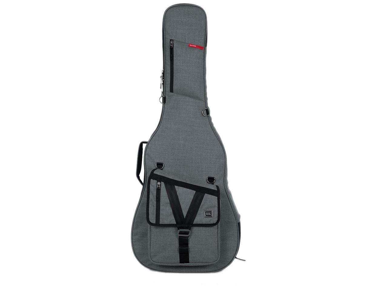 Gator GT-ACOUSTIC-GRY Transit Acoustic Guitar Bag - Light Grey