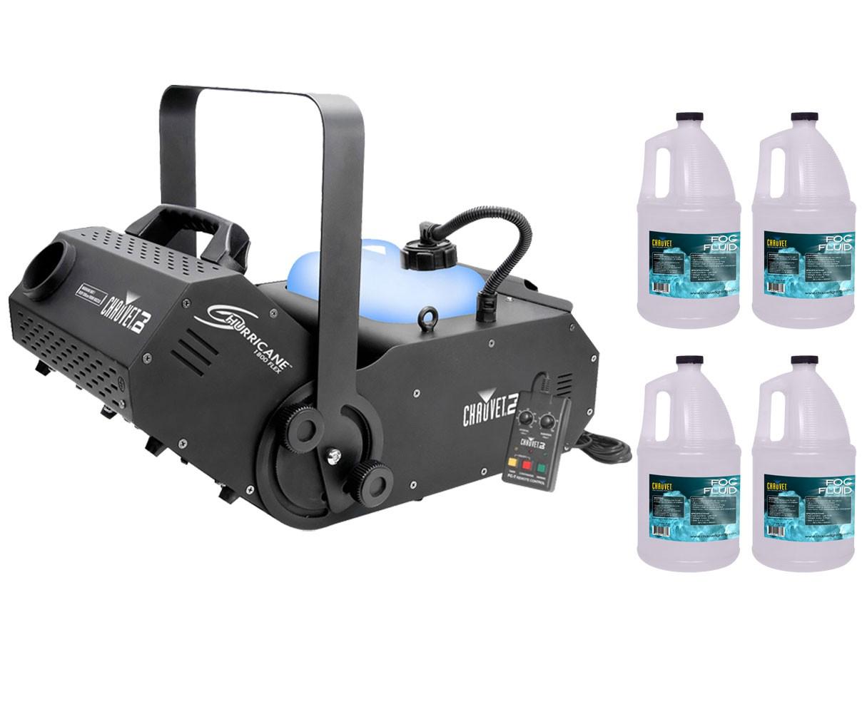 CHAUVET DJ Hurricane 1800 Flex + 4x Fog Fluid