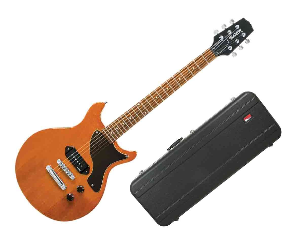 Hamer Special Jr. Electric Guitar - Natural Gloss w/Hard-Shell Case