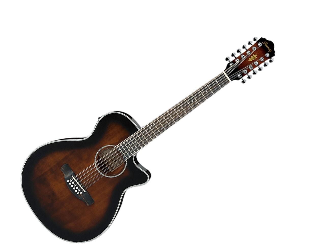 Ibanez AEG1812II DVS 12 String Acoustic Electric Guitar Dark Violin Sunburst
