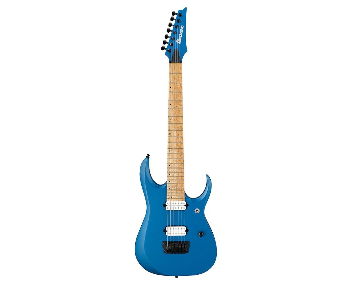 ibanez rgd iron label 7 string electric guitar laser blue matte electric guitars guitar bass. Black Bedroom Furniture Sets. Home Design Ideas