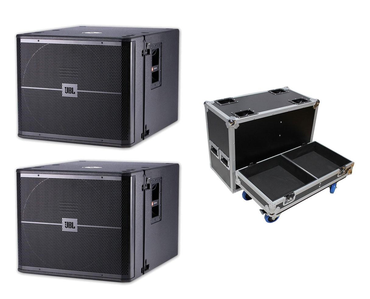 2x JBL VRX918SP + ATA Case