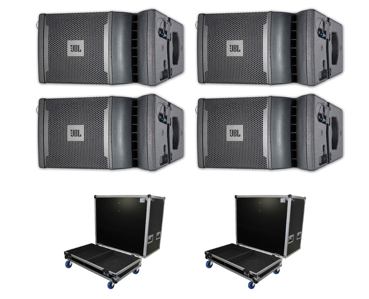 4x JBL VRX932LAP + ATA Cases