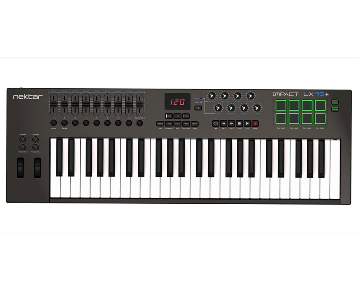 Nektar Impact LX49+ 49 Key Keyboard MIDI controller with built in DAW integration (Open Box)