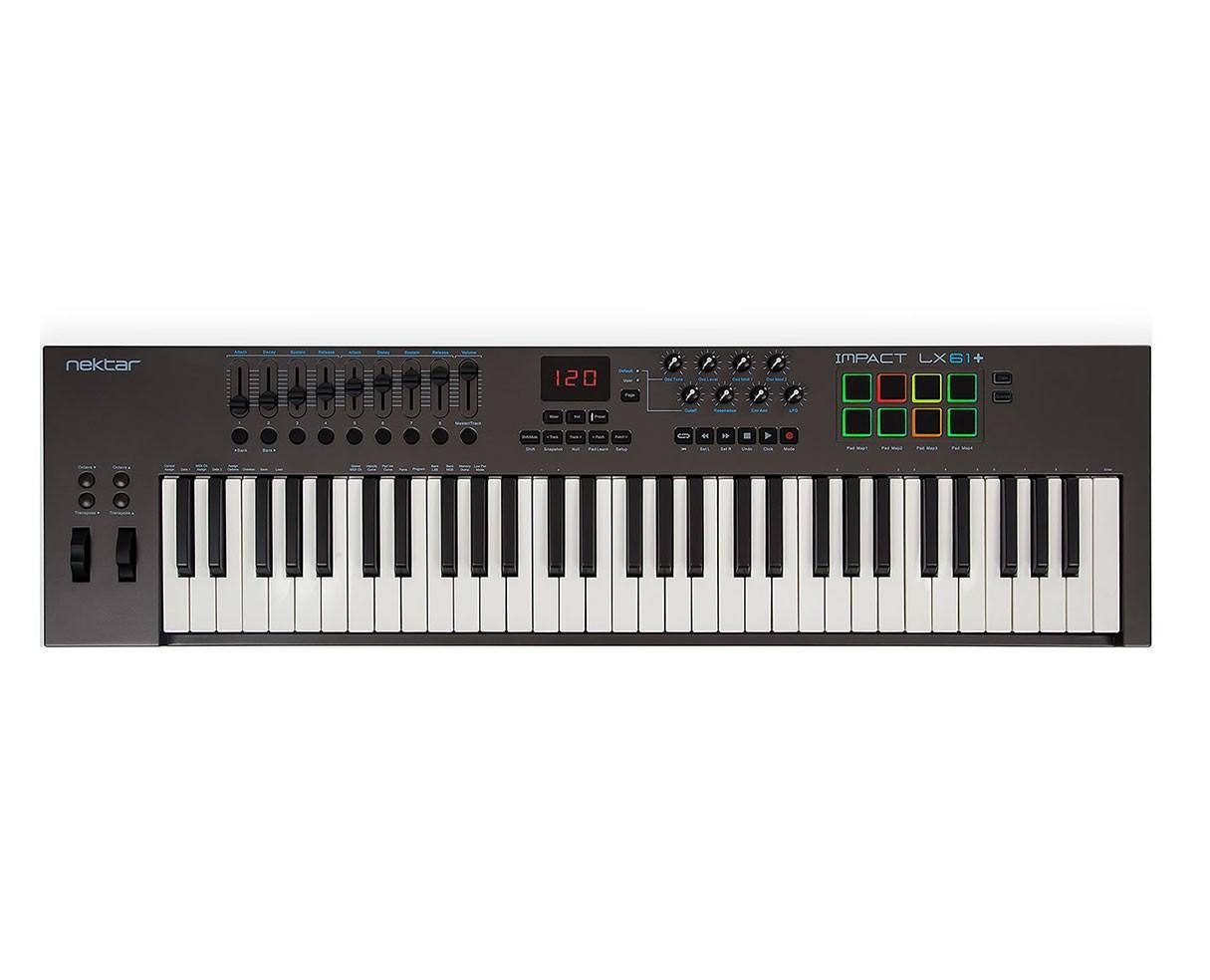 Nektar Impact LX61+ 61 Key Keyboard MIDI controller with built in DAW integration (Open Box)