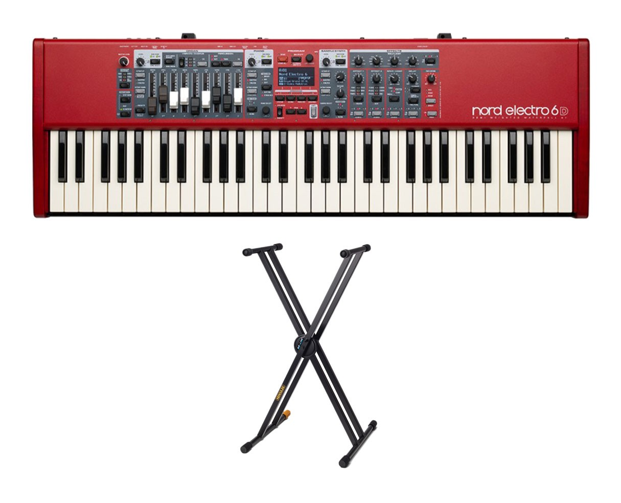 Nord Electro 6D 61 + Hercules KS120B Keyboard Stand
