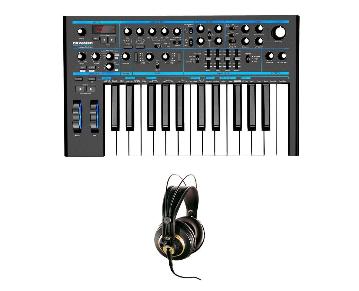 Novation Bass Station II Analog Synthesizer + AKG K 240 Studio