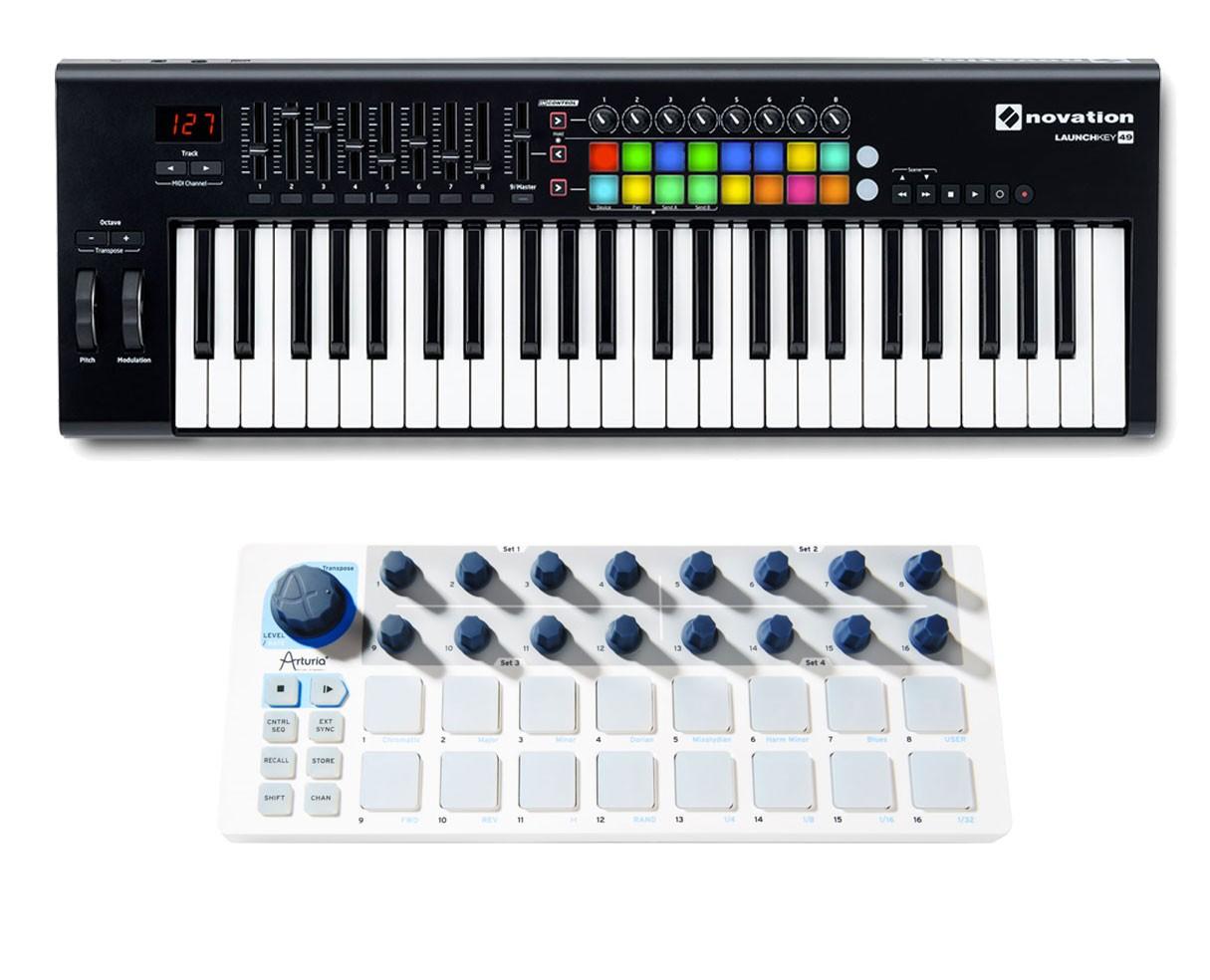Novation Launchkey 49-Key MIDI Controller + Arturia Beatstep
