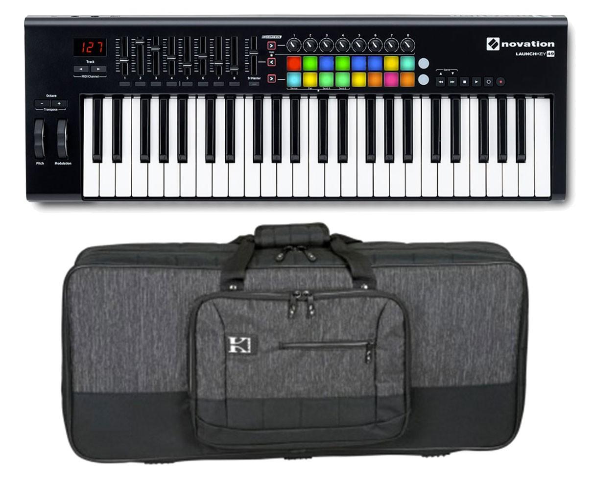 Novation Launchkey 49-Key MIDI Controller + Bag