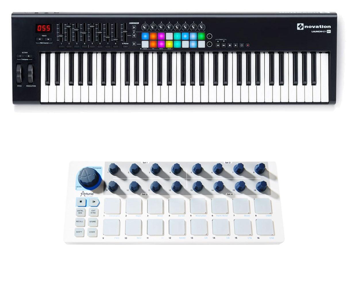 Novation Launchkey 61-Key MIDI Controller + Arturia Beatstep
