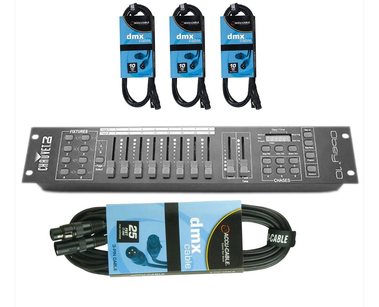 CHAUVET DJ Obey 10 + DMX Cables