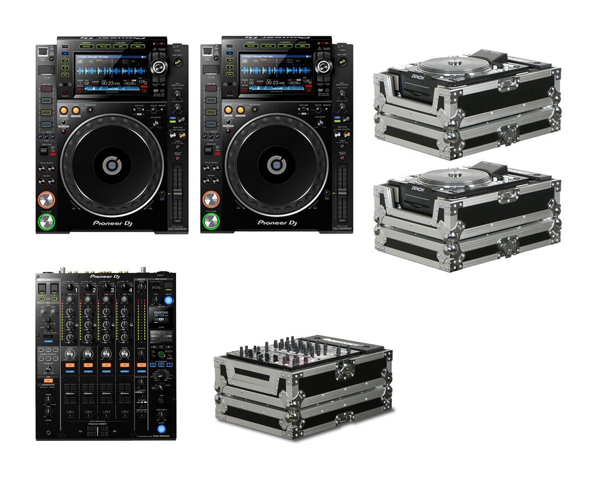 2x Pioneer CDJ-2000NXS2 + DJM-900NXS2 + Cases