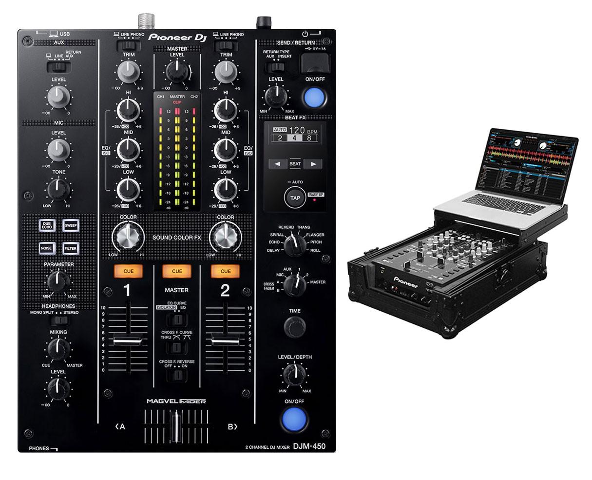 Pioneer DJM-450 + Black Label Glide Style Case
