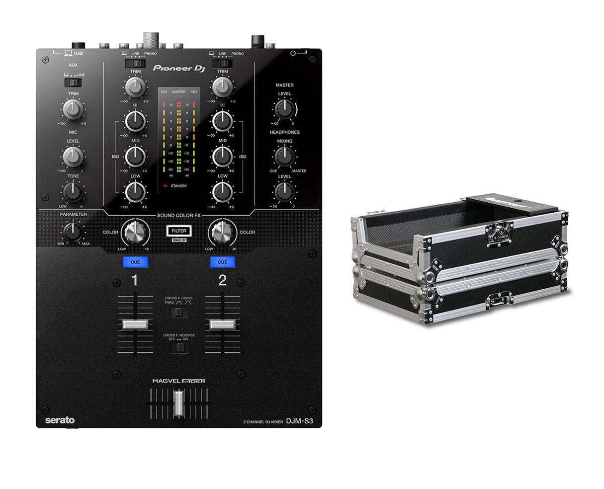 Pioneer DJM-S3 + Odyssey Case