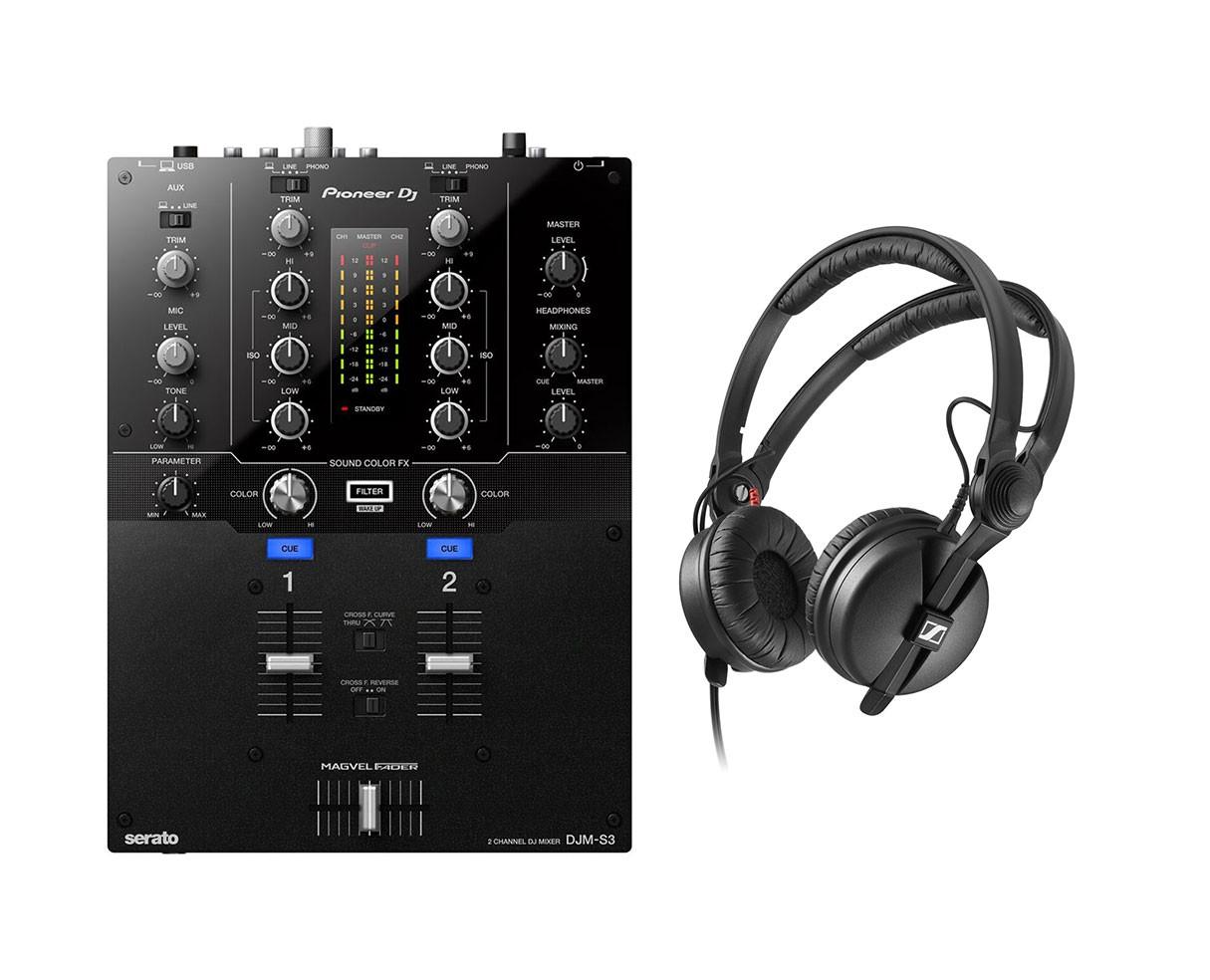Pioneer DJM-S3 + HD 25