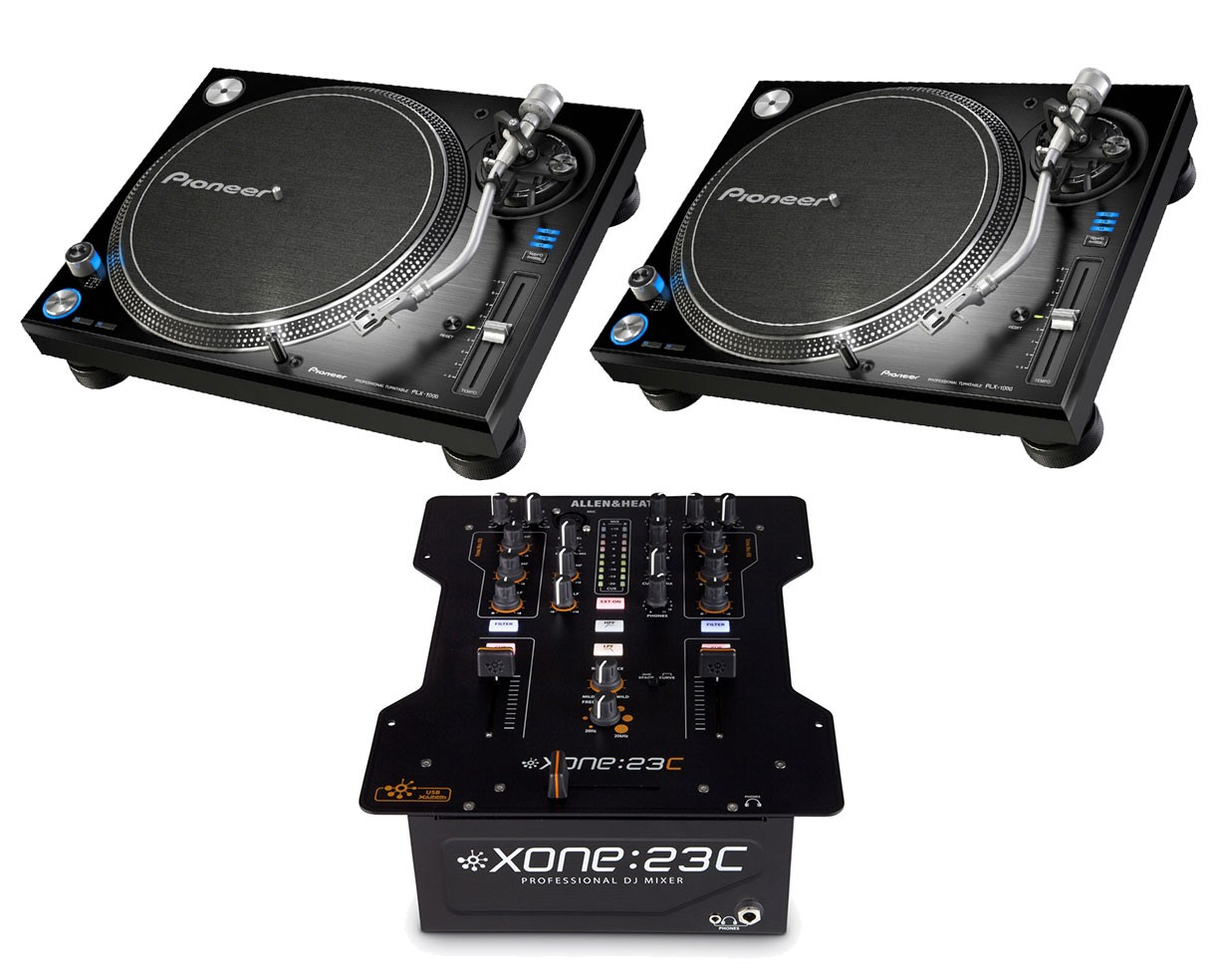 2x Pioneer PLX-1000 + Xone:23C